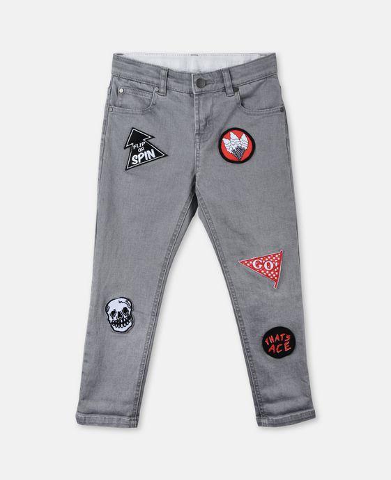 Lohan 徽章牛仔裤