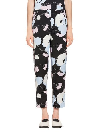 Marni Viscose pants with Havana print Woman