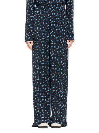 Marni Silk crêpe pants with Gothica print Woman