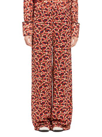 Marni Pants in silk crepe Metropolis print Woman