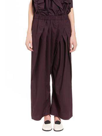 Marni Cotton poplin pants Woman
