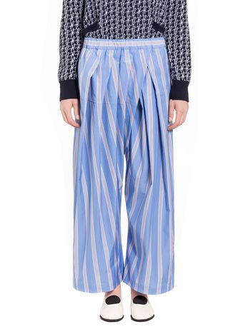 Marni Pants in striped poplin Woman