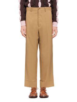 Marni Beige pants in tropical wool Man
