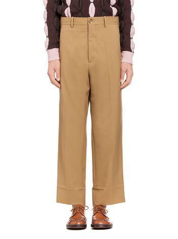 Marni Beige pants in tropical wool Man
