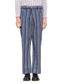 Marni Five-pocket pants in striped cotton Man