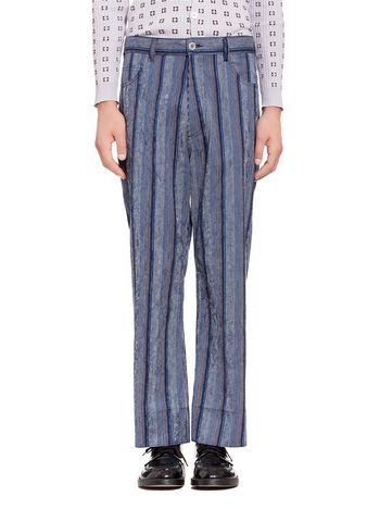 Marni 5-pocket pants in striped cotton Man