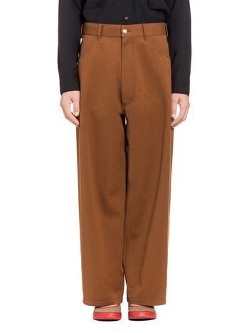 Marni Pants in cotton and polyester drill Man