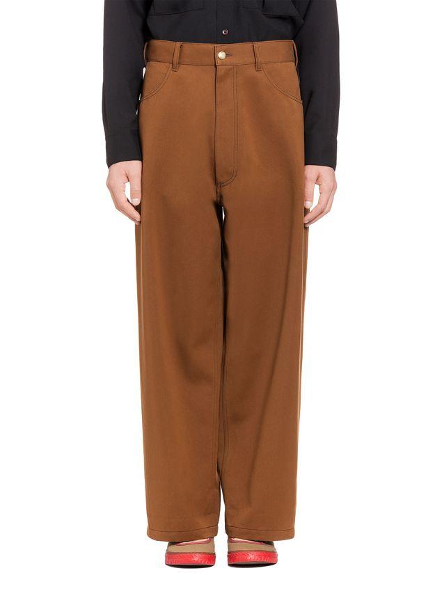 Marni Pantaloni in drill di cotone e poliestere Uomo - 1 ... 03eb1f97998