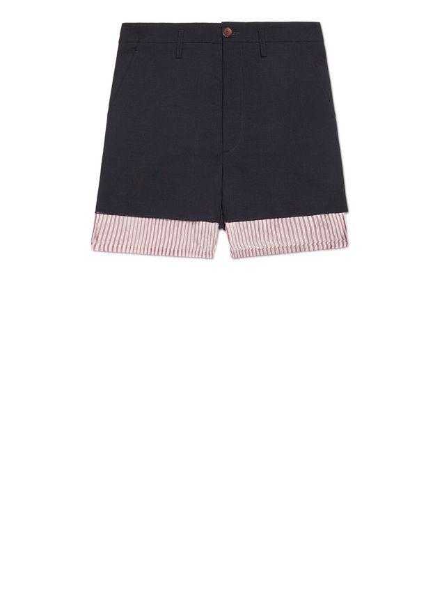 948af4064b MARNI Bermudas Hombre Pantalones cortos tipo patchwork de lana tropical e