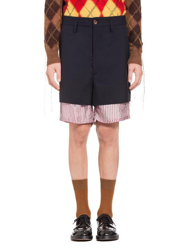 aa1cf0505f Marni Pantalones cortos tipo patchwork de lana tropical Hombre - 1 ...