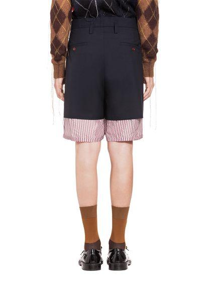 69623a850a MARNI Bermudas Hombre Pantalones cortos tipo patchwork de lana tropical f