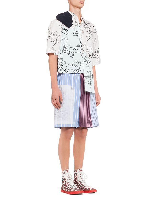 0c48188e8e MARNI Bermudas Hombre Pantalones cortos tipo patchwork de algodón a rayas a