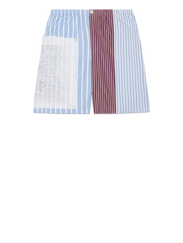 87dd526106 MARNI Bermudas Hombre Pantalones cortos tipo patchwork de algodón a rayas e