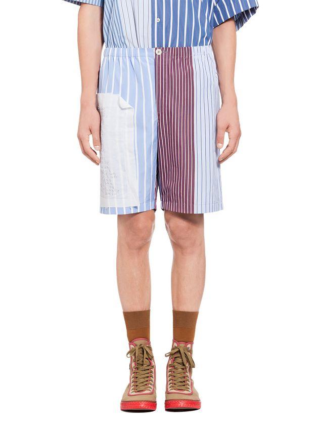 dbd00a5c95 Marni Pantalones cortos tipo patchwork de algodón a rayas Hombre - 1 ...