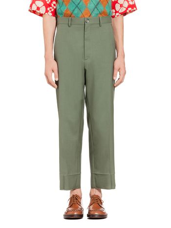 Marni Green pants in tropical wool Man