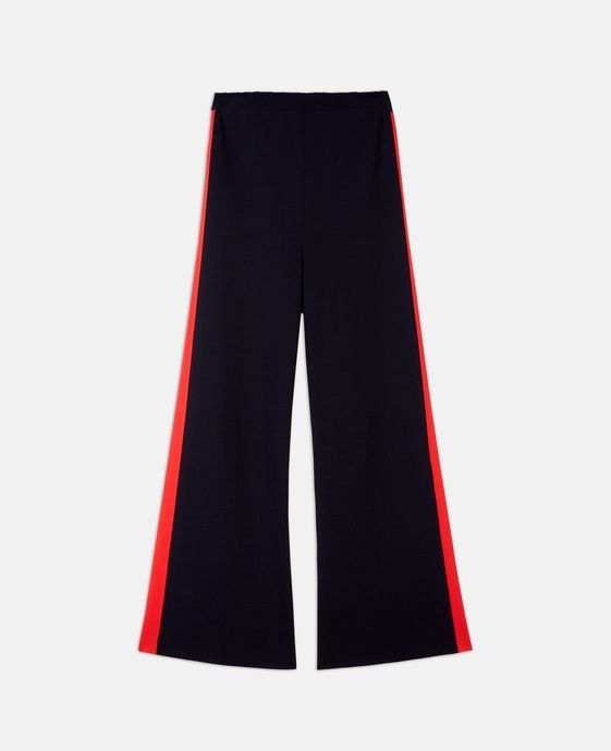 Kick Flare Compact Knit Trousers