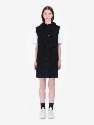 Micro Swallow Hoodie Dress