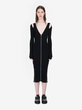 Cut-Out Bodycon Zip Dress