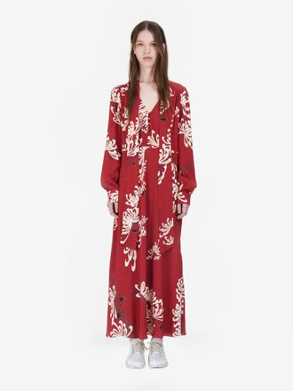"""Japanese Floral"" Long Dress"