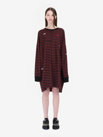 Monster Cut-Stripe Sweat Dress