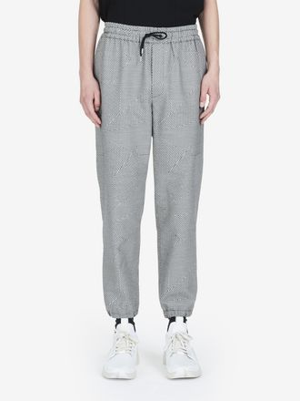 Patchwork Dogtooth Tailored Trackpants