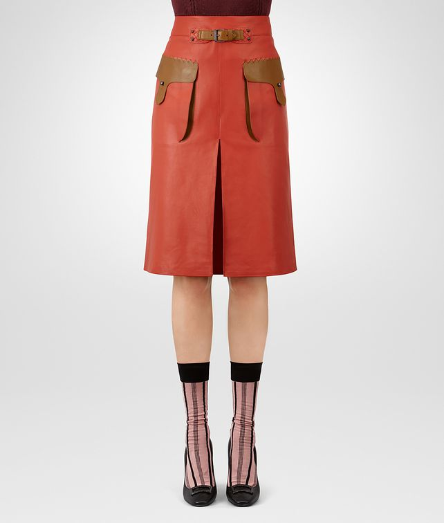 BOTTEGA VENETA TERRACOTTA CALF SKIRT Skirt or trouser Woman fp