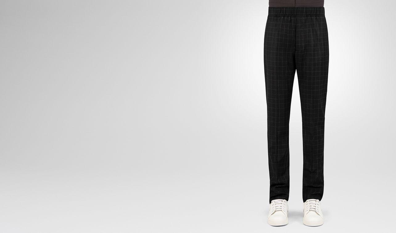 pantalon en flanelle et laine nero  landing