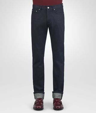 PANTALONE IN DENIM BLU NAVY SCURO