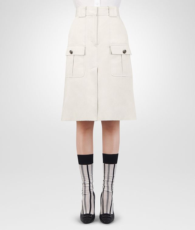 BOTTEGA VENETA LATTE COTTON SKIRT Skirt or trouser [*** pickupInStoreShipping_info ***] fp