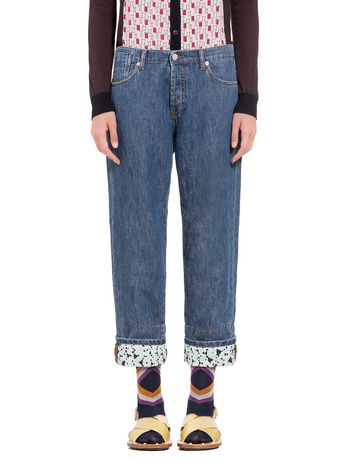Marni 5-pocket pants in denim stone wash Woman