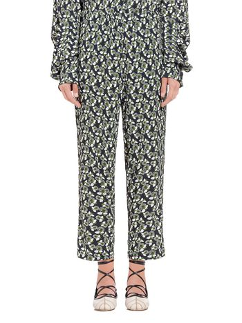 Marni Pants in viscose Plumeria print Woman