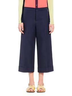 Marni Cotton pants with turn-up Woman