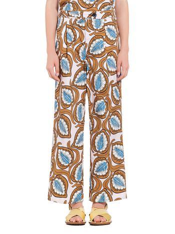 Marni Pants in cotton Desert print Woman