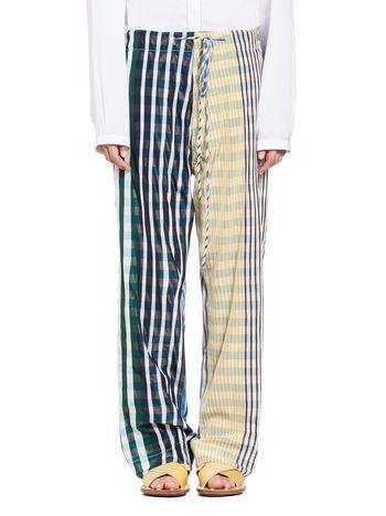 Marni Pants in taffeta madras with drawstring Woman