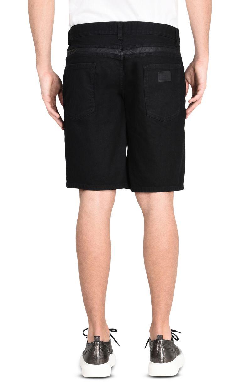 JUST CAVALLI Shorts denim scuro con zip Shorts Uomo d