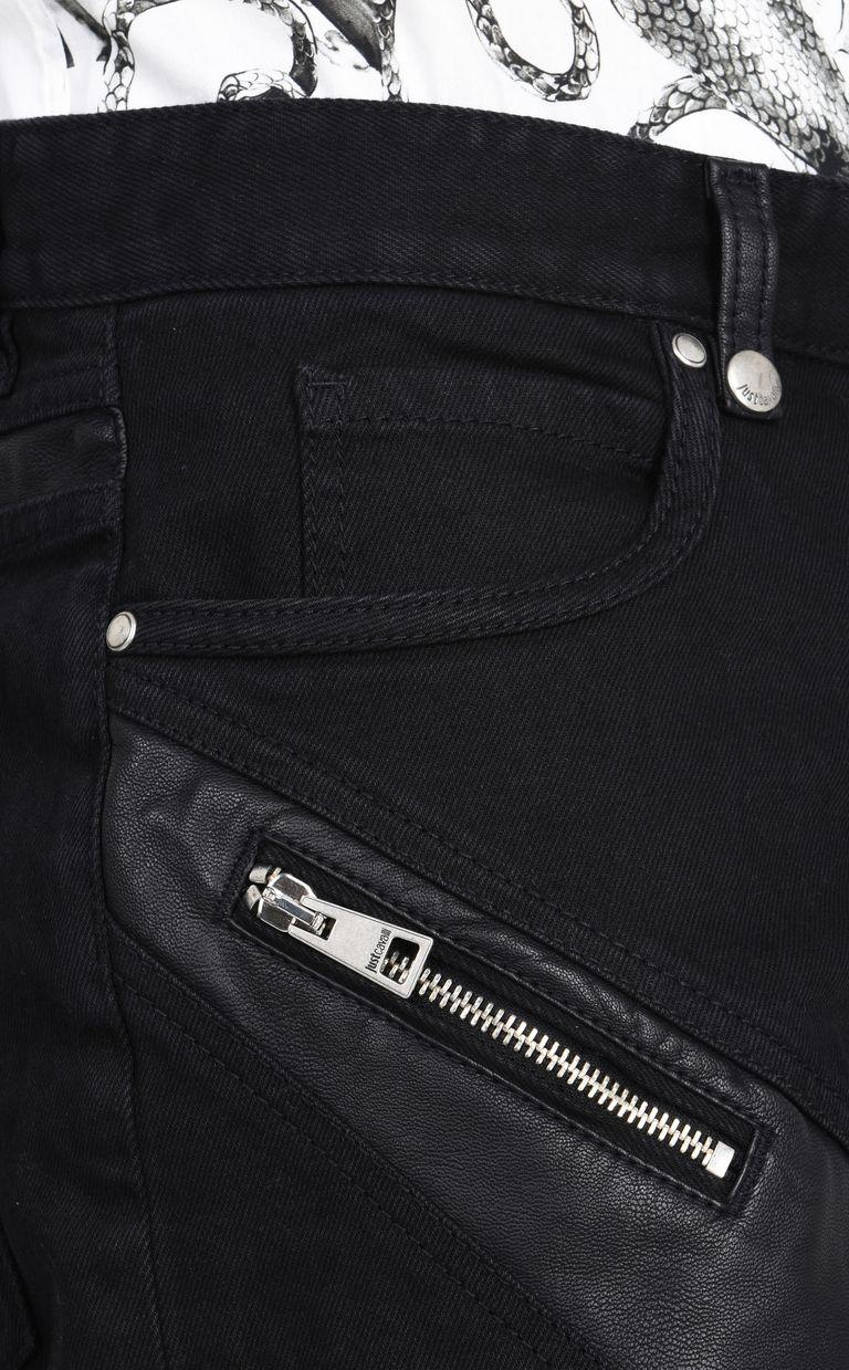 JUST CAVALLI Shorts denim scuro con zip Shorts Uomo e