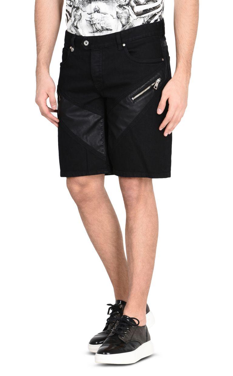 JUST CAVALLI Shorts denim scuro con zip Shorts Uomo f