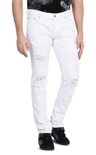 JUST CAVALLI Jeans Man Cloud-effect jeans with five pockets f