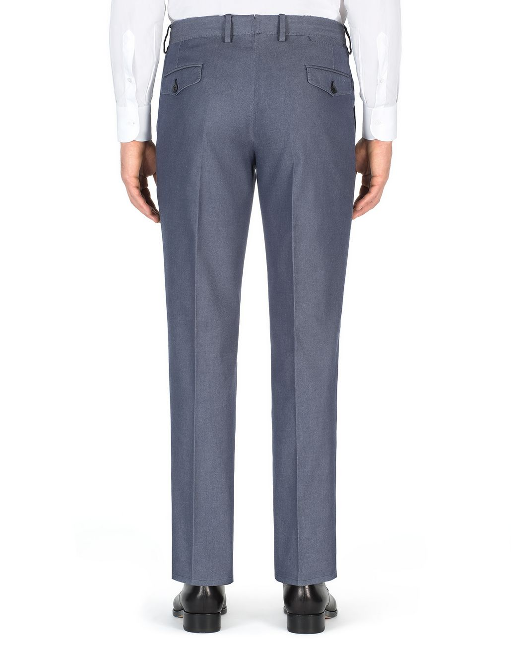 BRIONI Denim Blue Tignes Chino Trousers Trousers Man d