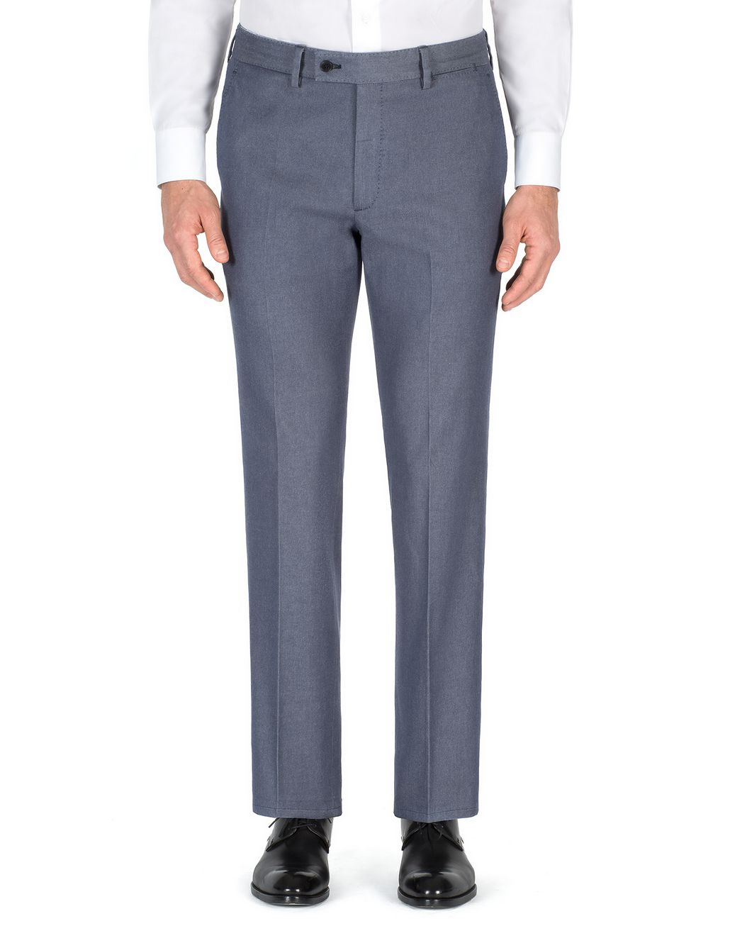 BRIONI Denim Blue Tignes Chino Trousers Trousers Man r