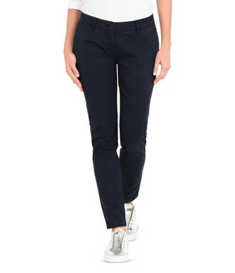 NAPAPIJRI MERIDIAN WOMAN CHINO PANTS,DARK BLUE