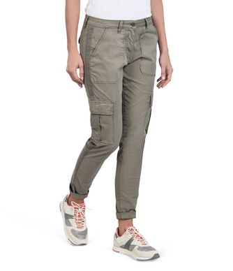 NAPAPIJRI MARIN WOMAN CARGO TROUSERS,MILITARY GREEN