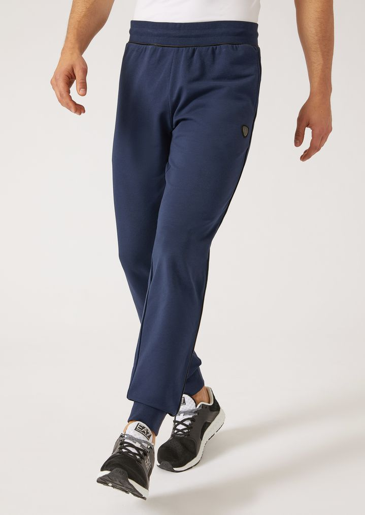 654f7722a9 Jogging trousers in technical fabric | Man | Ea7