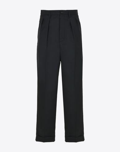 MAISON MARGIELA Casual pants U Pleated virgin wool trousers f