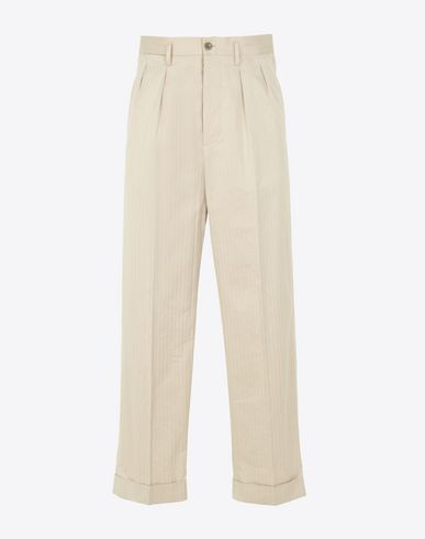 MAISON MARGIELA Casual pants Man Pleated cotton trousers f