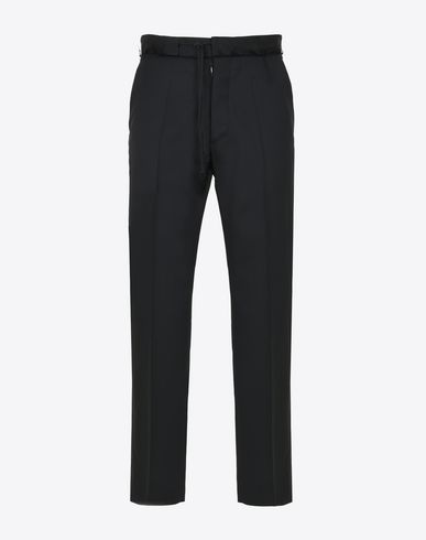 MAISON MARGIELA Casual pants Man Virgin wool drawstring trousers f