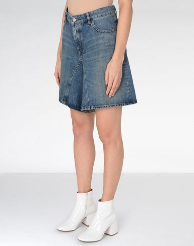 MM6 MAISON MARGIELA Jeans Woman Long jean cut-off shorts f