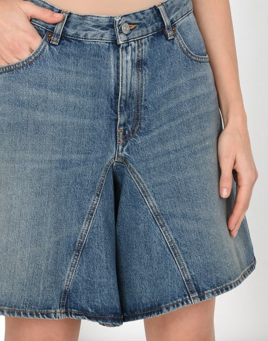 MM6 MAISON MARGIELA Long jean cut-off shorts Jeans Woman e
