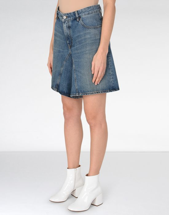 MM6 MAISON MARGIELA Long jean cut-off shorts Jeans Woman f