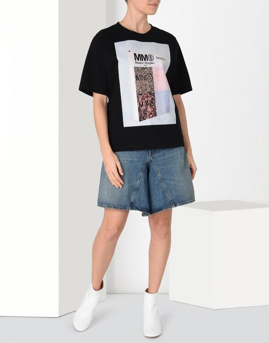 MM6 MAISON MARGIELA Long jean cut-off shorts Jeans Woman r